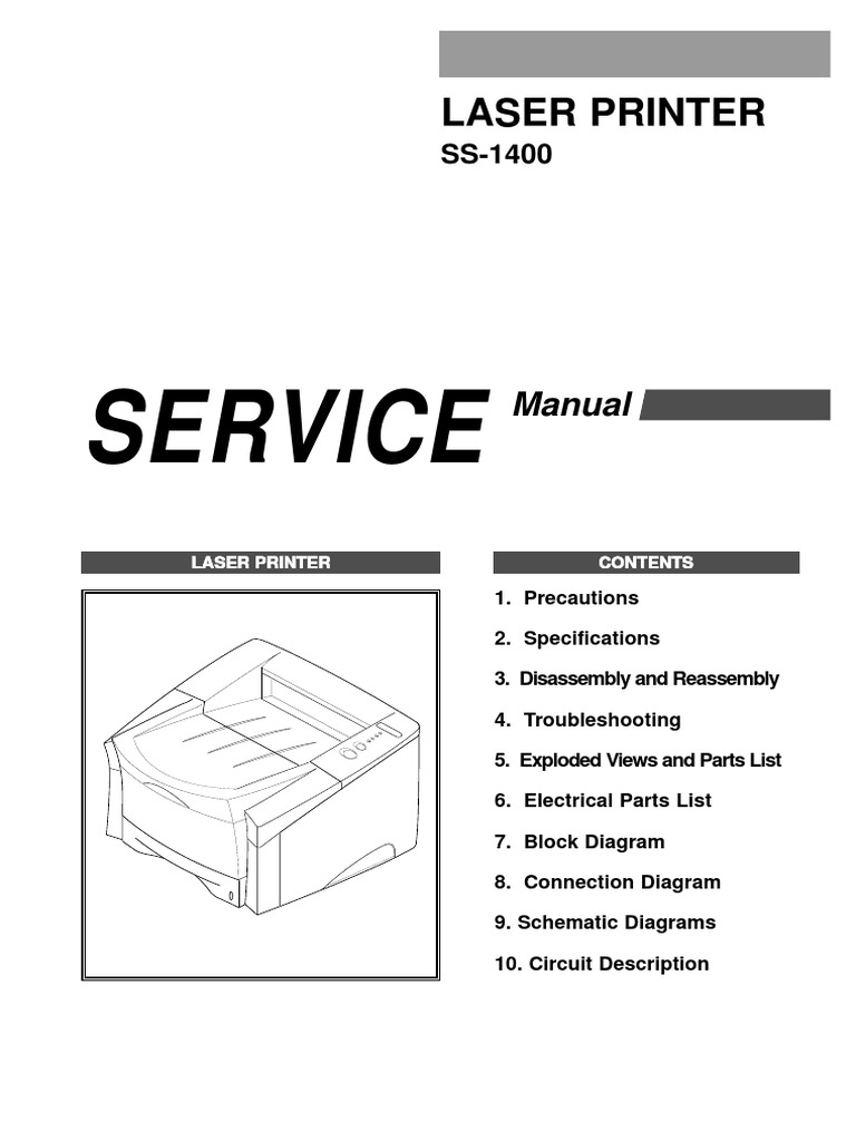 Samsung SS 1400 Service Manual | Troubleshooting