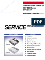 Samsung SPP 2000 and SPP 2040 XIP Service Manual
