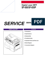Samsung SF 830 and 835P Service Manual