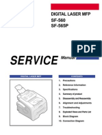Samsung SF 560 and 565P Service Manual
