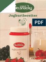 Biosnacky Joghurtbereiter Anleitung