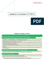 Japan - Highlights of the Budget for FY2014