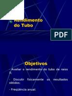 Lab. Radiodiagnóstico - I Física Médica - Unesp (2006) Rendimento do Tubo