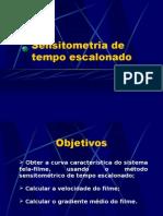 Lab. Radiodiagnóstico - I Física Médica - Unesp (2006) Sensitometria de tempo escalonado