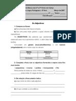 Ficha de Adjectivos