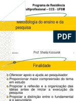 Projeto de Pesquisa Ago.set 2012