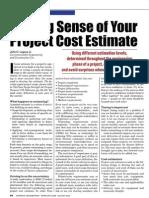 Making Sense Project Cost Estimate