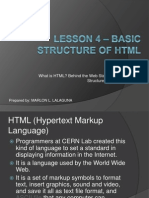 Unit I - Lesson 4 - Basic Structure of HTML