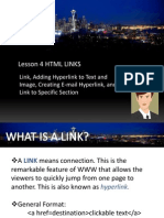 Unit II - Lesson 4 - HTML Links