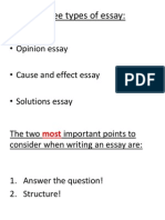 Three Types of Essay Lesson 1