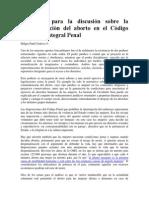 GAYNE, Elementos para la discusión  despenalización del aborto en el Código  Penal