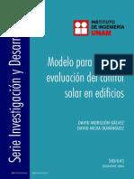 Control Solar Morillon