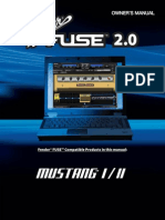 Fender FUSE 2.0 Manual for Mustang 1-2 Rev-G English