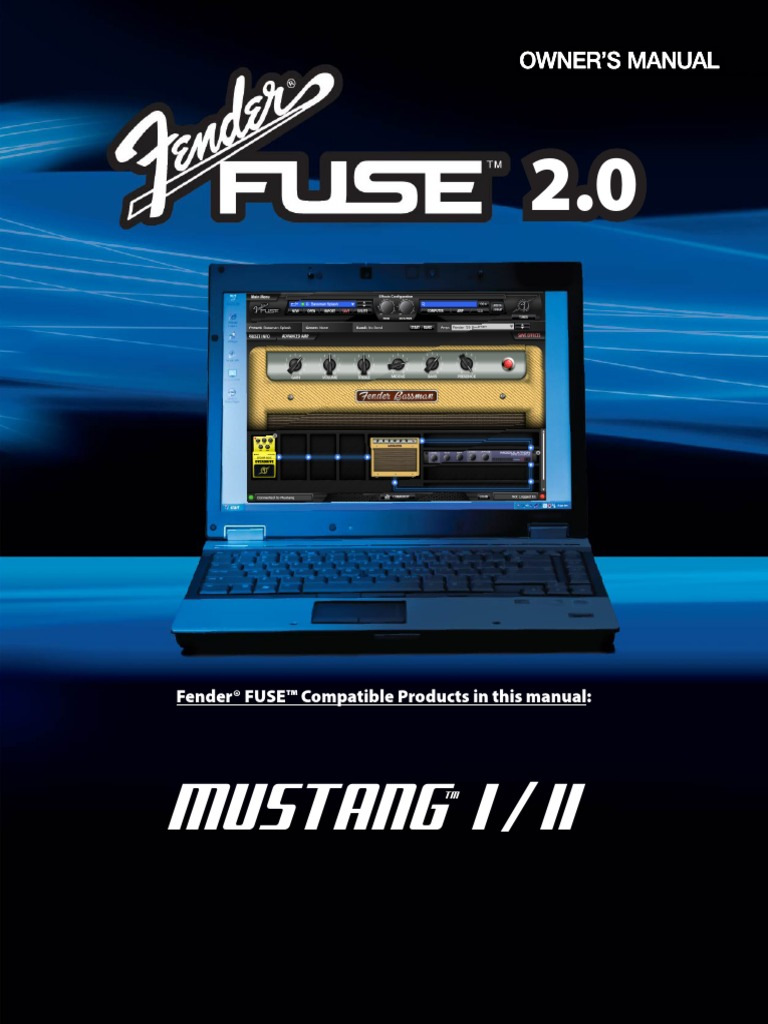 fender fuse 2 0 manual for mustang 1 2 rev g english icon rh es scribd com Fender Amps Fender Mustang 2