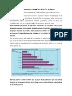 Algunas estadísticas sobre el uso de las TIC en México