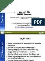 Unit II - Lesson 10 - HTML Frames
