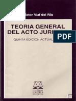 Teoria General Del Acto Juridico Victor Vial Del Rio