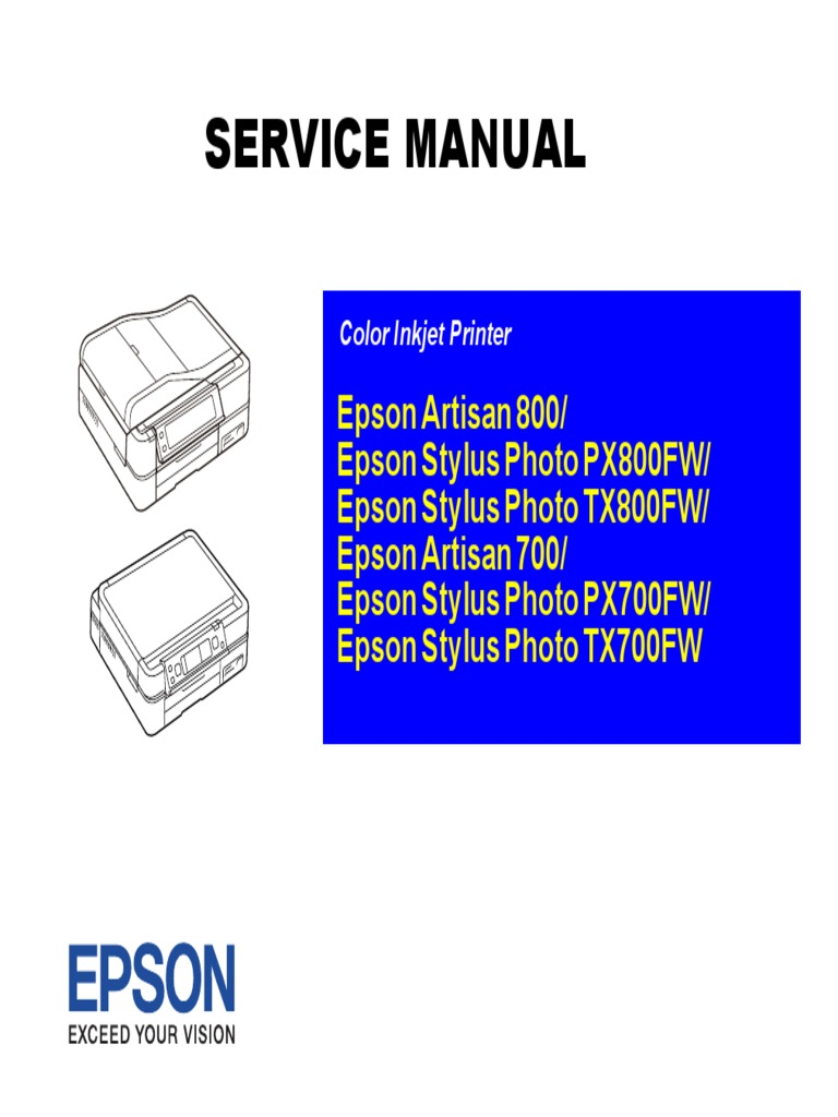 epson color inkjet printer artisan 800 stylus photo px800fw stylus rh scribd com LinkedIn Customer Service 800 Service 800 Work From Home