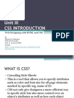Unit III - Introduction to CSS