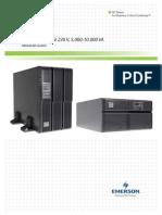 Liebert GXT3 UPS (230V) 5000VA-10000VA User Manual(Spanish)