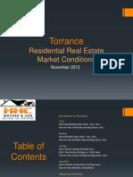 Torrance Real Estate Market Conditions - November 2013