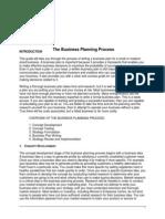 Business Plan Process