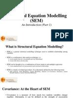 Structural Equation Modelling (SEM) Part 1 of 3