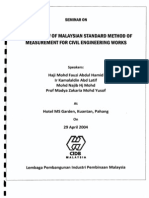 Seminar on the Overview of Malaysian Standard Method of Measurement for Civil Engineering Works Ism