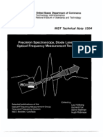 NIST Precision Spectroscopy, Diode Lasers and Optical Frequency Measurement Technology,PDF