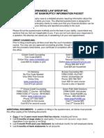 Bankruptcy Client Questionnaire