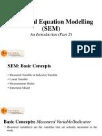 Structural Equation Modelling (SEM) Part 2 of 3