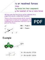 Components or Resolved Forces