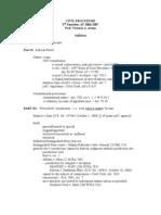 CivPro Syllabus (Part I)