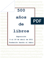 CATALOGO 500 años de libros