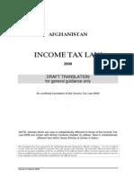 Income Tax Law 2009 _English_ Provisional Translation