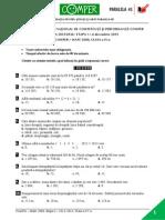 Subiect Matematica EtapaI 13-14 ClasaIV