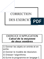 Correction Exercices (1)
