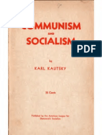 Communism vs Socialism - Kautsky