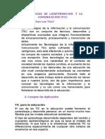 TECNOLOGIAS  DE  LAINFORMACION   Y  LA COMUNICACIÓN