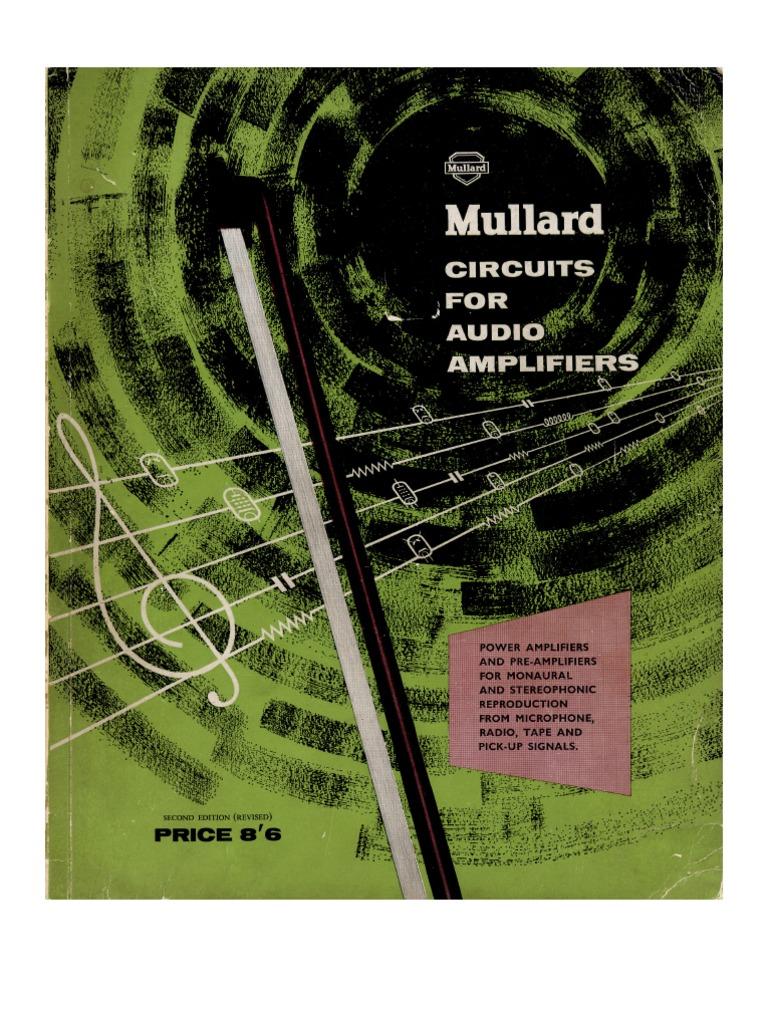 Mullard Circuits For Audio Amplifiers Loudspeaker Gramophone Record Sine Systems Inc Diy Detection Circuit