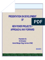 DEVELOPMENT OF NEW POWER PROJECTS – APPROACH & WAY FORWARD