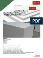 1260°C Ceramic Fiber Board for Fusion Kiln Glass Kiln