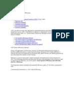Methods for Calculating Efficiency