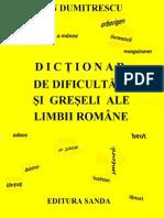 Dictionar de Dificultati Si Greseli Ale Limbii Romane-Dan Dumitrescu
