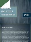 Basics of ISO 17025 Accreditation