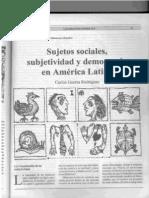 Sujetos sociales, subjetividad y democracia en América Latina