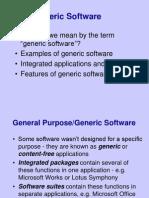 2-4 Generic Software