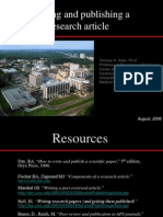 Writing and Publishing a Research Article Adair