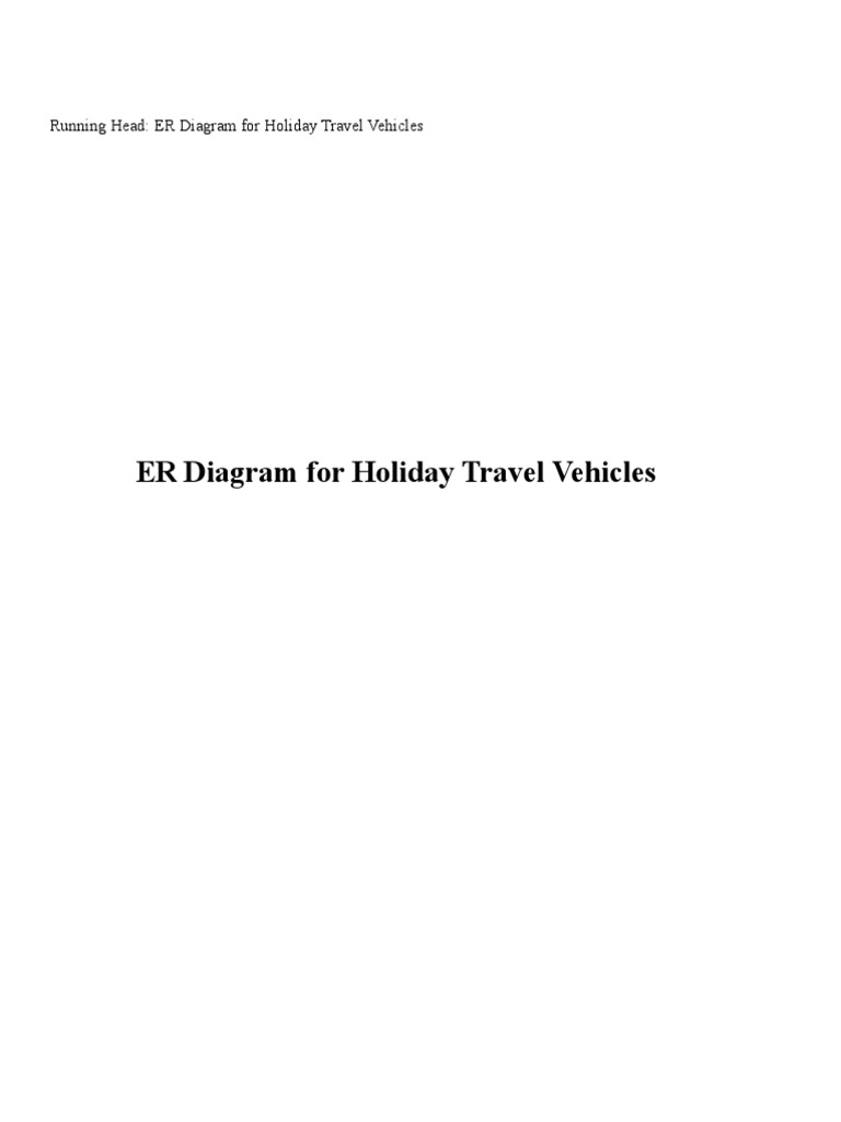 erd for holiday travel agency