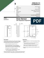 Baysens014b & c Zone Sensor